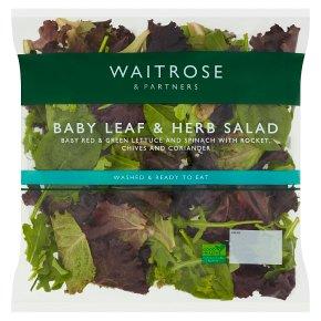 Waitrose babyleaf herb salad