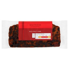Waitrose fruit cake