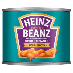 Heinz Baked Beanz with pork sausages
