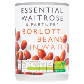 essential Waitrose canned borlotti beans in water
