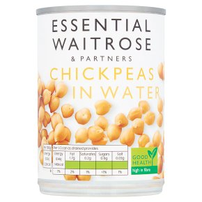 essential Waitrose Chick Peas in Water