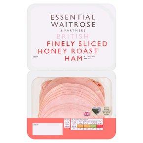 essential Waitrose British wafer thin honey roast ham