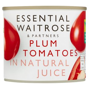 essential Waitrose tinned plum tomatoes in natural juice