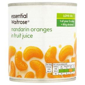 Essential Waitrose Mandarin Oranges (in fruit juice)