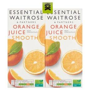 Waitrose pure juice orange (4x1litre)