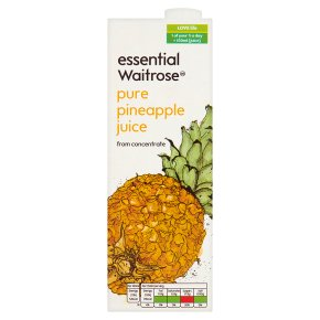 essential Waitrose pure pineapple juice