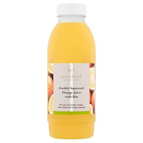 Waitrose 1 freshly squeezed orange juice with bits