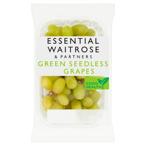 essential Waitrose green seedless grapes