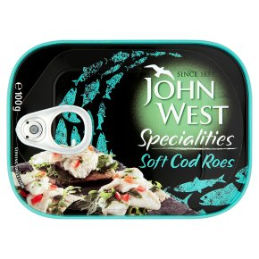 John West soft cod roes