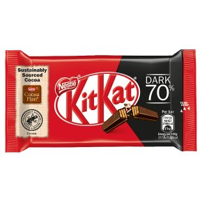 KitKat 4 Finger 70% dark chocolate bar