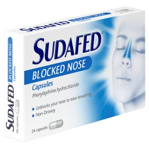 Sudafed congestion relief capsules