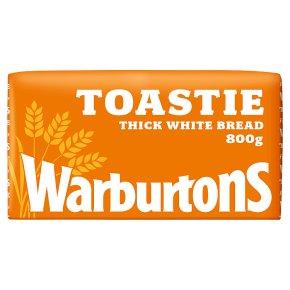 Warburtons thick sliced white toastie bread