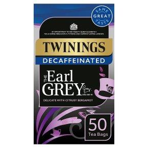 Twinings 50 Tea Bags Earl Grey Decaffeinated