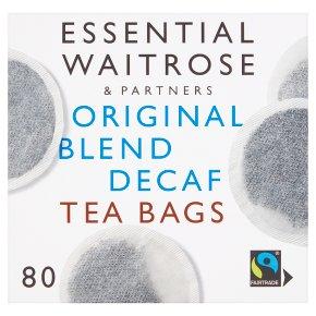 Essential Waitrose Original Blend Decaffeinated Tea - 80 Bags