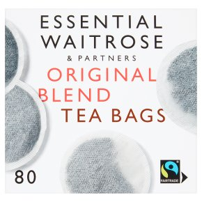 Essential Waitrose Original Blend Tea - 80 Round Bags