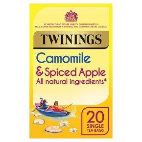 Twinings camomile & spiced apple 20 tea bags