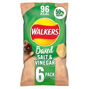 Walkers Baked salt & vinegar multipack crisps