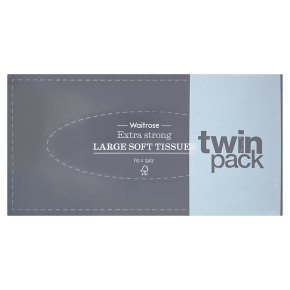 Waitrose extra strong tissues, twin pack