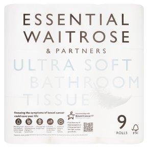 essential waitrose pure white toilet rolls   waitrose
