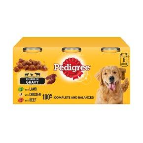 PEDIGREE Dog Tins Mixed Selection in Gravy 6 x 400g