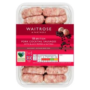Waitrose 18 Gourmet Pork Cocktail Sausages