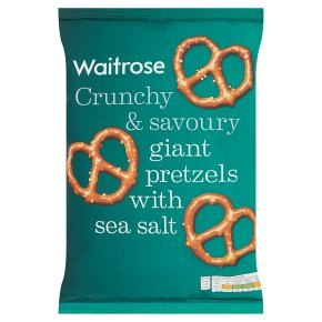 Waitrose giant pretzels with sea salt