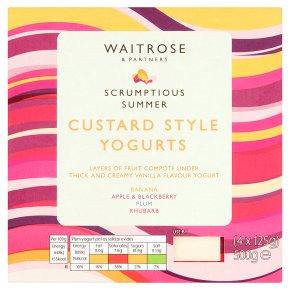 Waitrose thick & creamy custard style yogurt