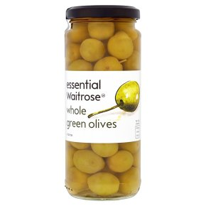 Waitrose, whole green olives in brine