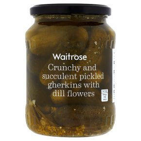 Waitrose gherkins pickled & dill flower