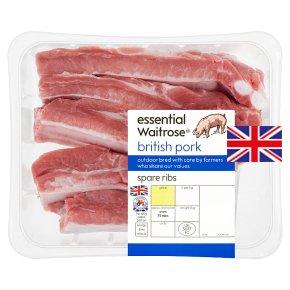 essential Waitrose British pork spare ribs
