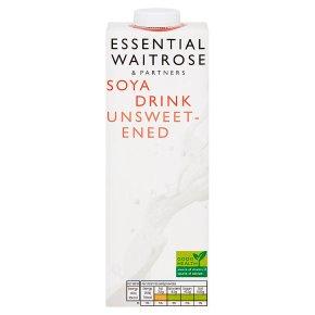 essential Waitrose longlife unsweetened soya drink