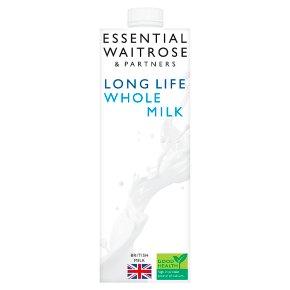 essential Waitrose whole long life milk