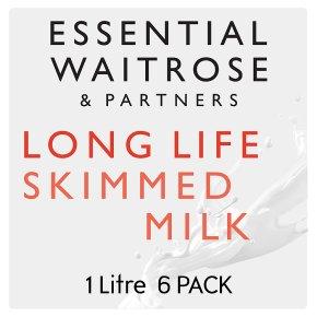 Essential Waitrose skimmed long life milk