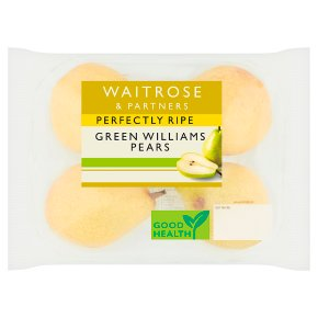 Waitrose 1 perfectly ripe green Williams pears