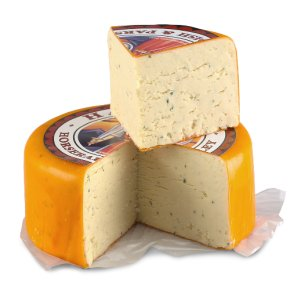 Harlech mature cheddar cheese with horseradish & parsley