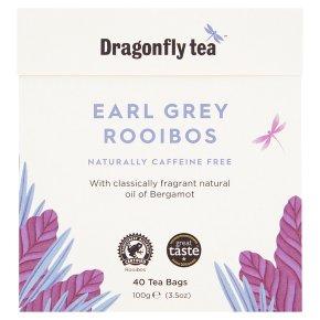 Dragonfly rooibos earl grey caffeine free 40 tea bags