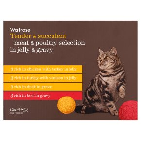 Waitrose special recipe poultry selection cat food, 12 x 85g pouches