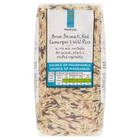 Waitrose LOVE life brown basmati, red camargue & wild rice