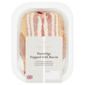 Waitrose partridge topped with bacon