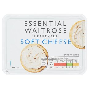 essential Waitrose creamy soft cheese, strength 1