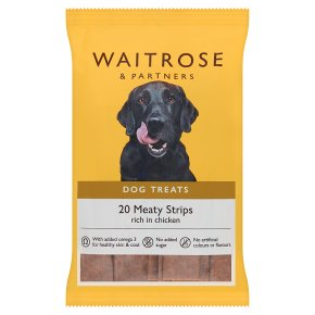 Waitrose low fat meaty strips, 20 strips