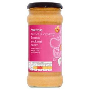 Waitrose korma cooking sauce