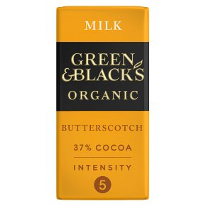 Green & Black's organic butterscotch milk chocolate bar