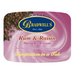 Bradwell's rum & raisin dairy ice cream