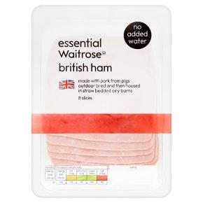 essential Waitrose British Ham 8 Slices