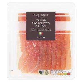 Waitrose Italian prosciutto crudo, 6 slices