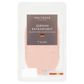 Waitrose German extrawurst, 8 slices