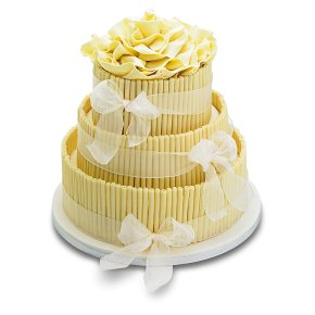 ready made wedding cakes waitrose white chocolate wedding cake ivory 3 tier waitrose 18968
