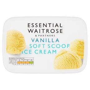 essential Waitrose vanilla soft ice cream