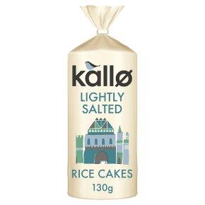 Kallo low fat wholegrain rice cakes